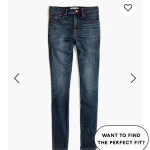 """Madewell 10"""" High-Rise Skinny Jeans- Danny Wash"""
